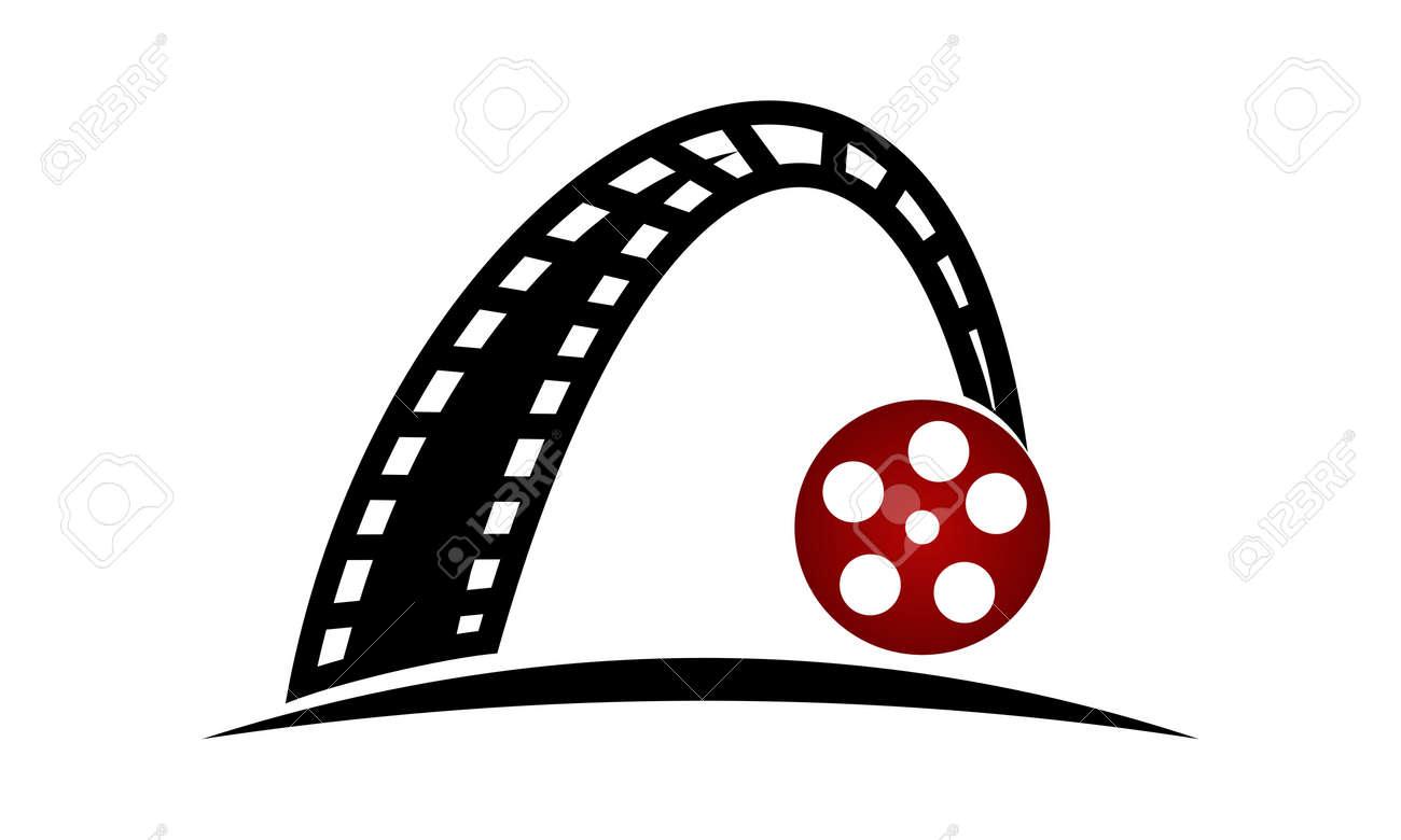 dynamic filmstrip logo design template vector royalty free cliparts rh 123rf com  film strip logo animation