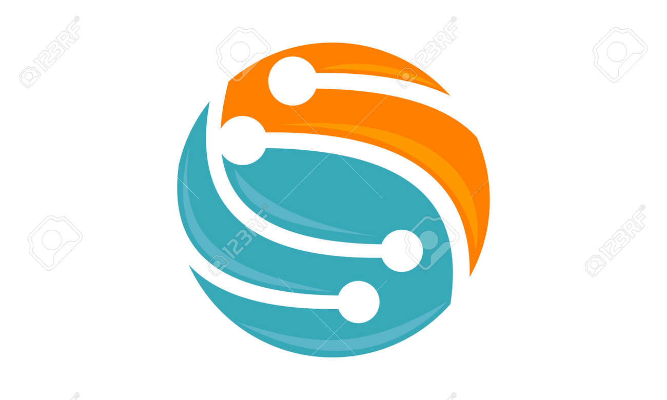 Digital World And Electrical Connections Logo Icon Vector ...