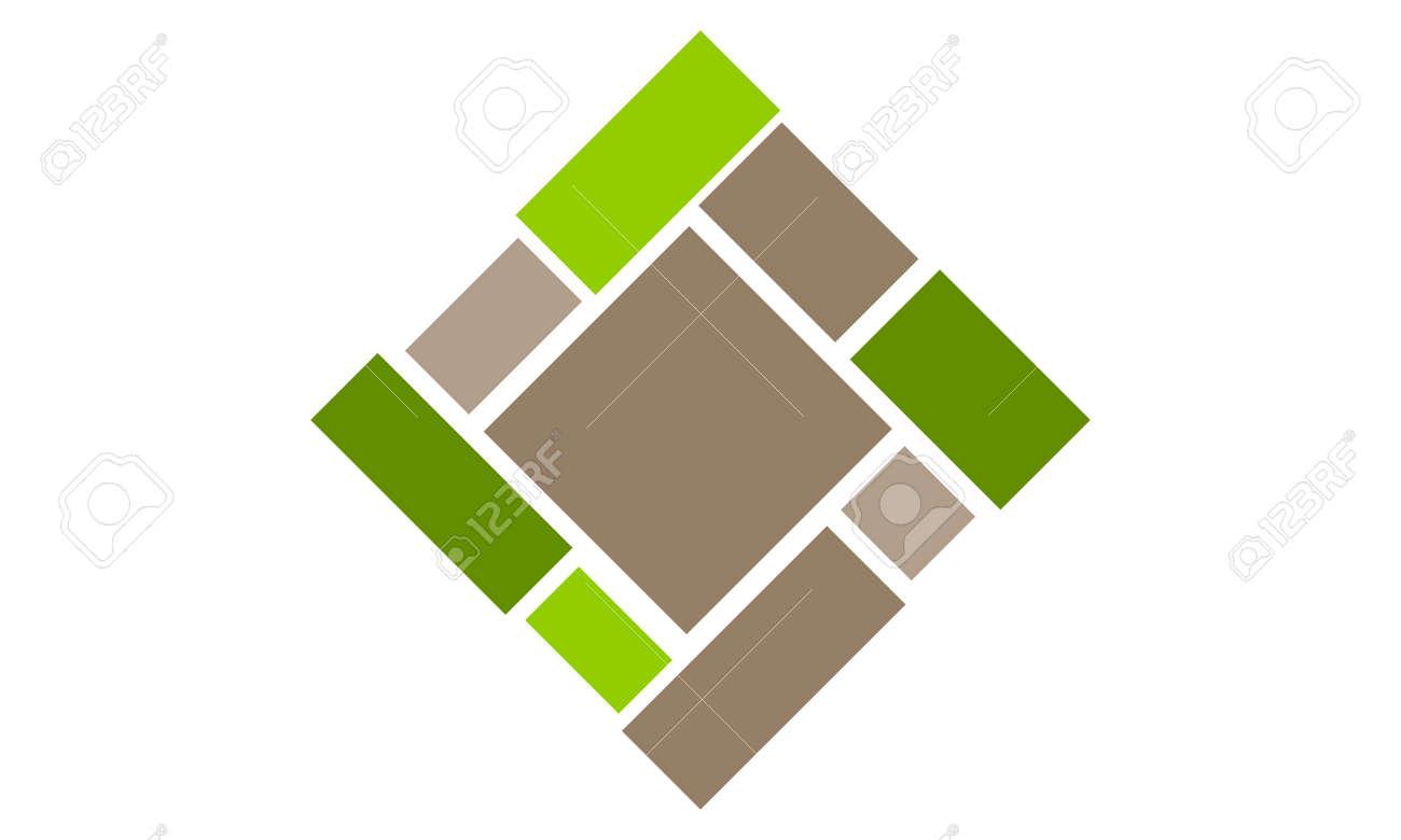 Flooring Bamboo Quality icon logo Vector illustration. - 91524774