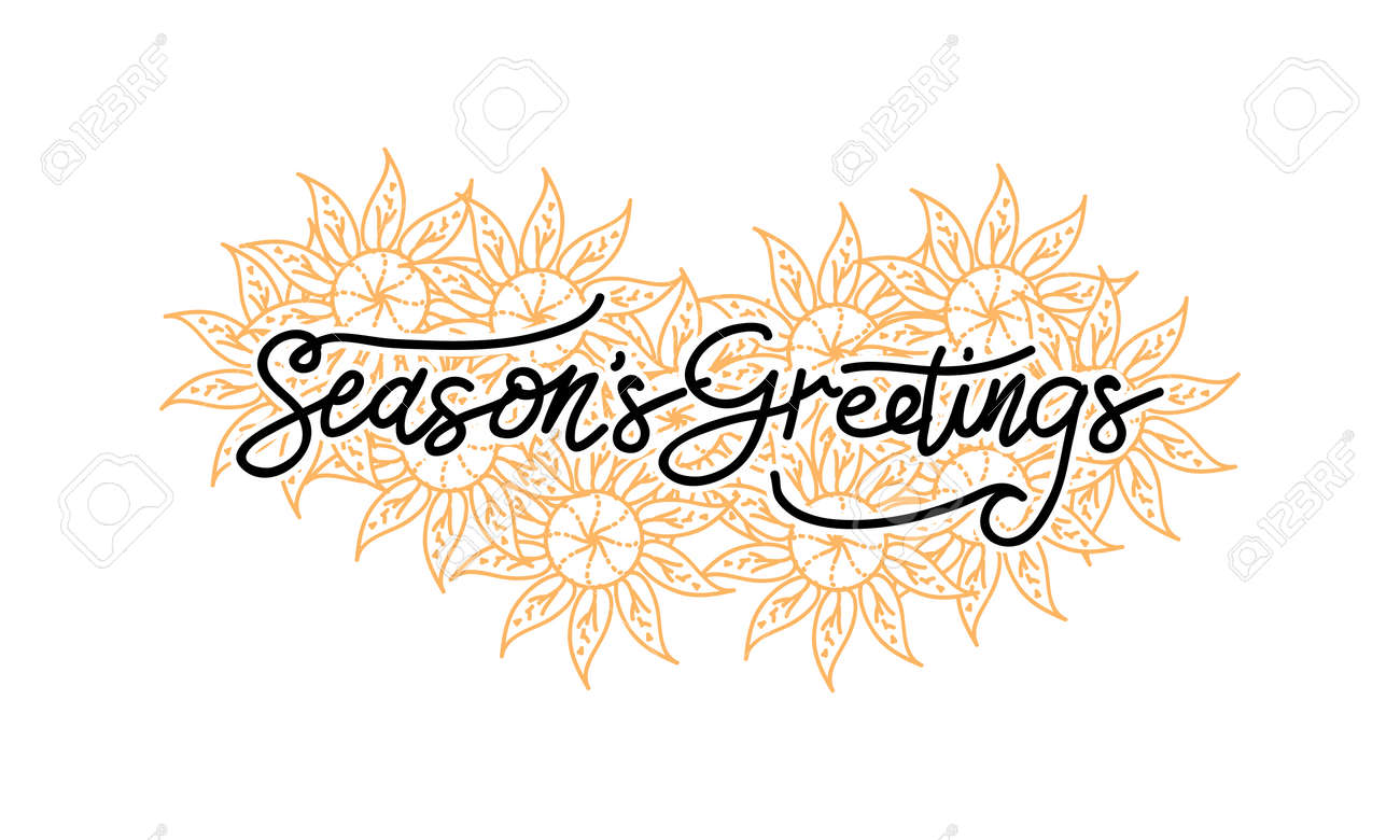 Seasons Greetings Template Vector Royalty Free Cliparts Vectors