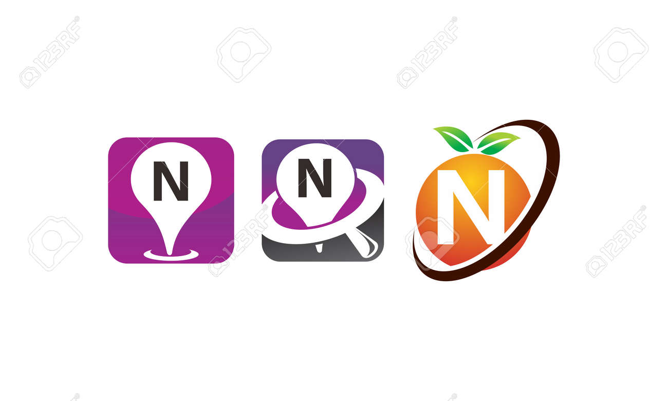 Pin location fruit letter n template design set illustration pin location fruit letter n template design set illustration stock vector 95296243 maxwellsz