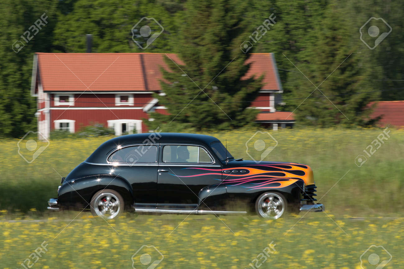 Trosa Sweden, 5 June 2014, CHEVROLET FLEETMASTER, Model 1948 ...