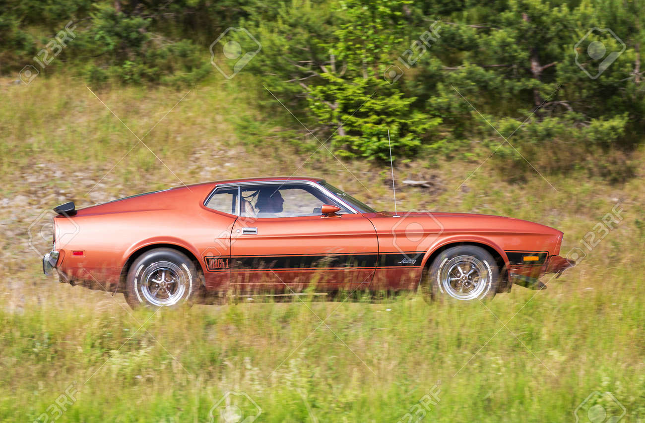 2016 Mustang Mach 1 >> Trosa Sweden June 23 2016 Ford Mustang Mach 1 Year 1973