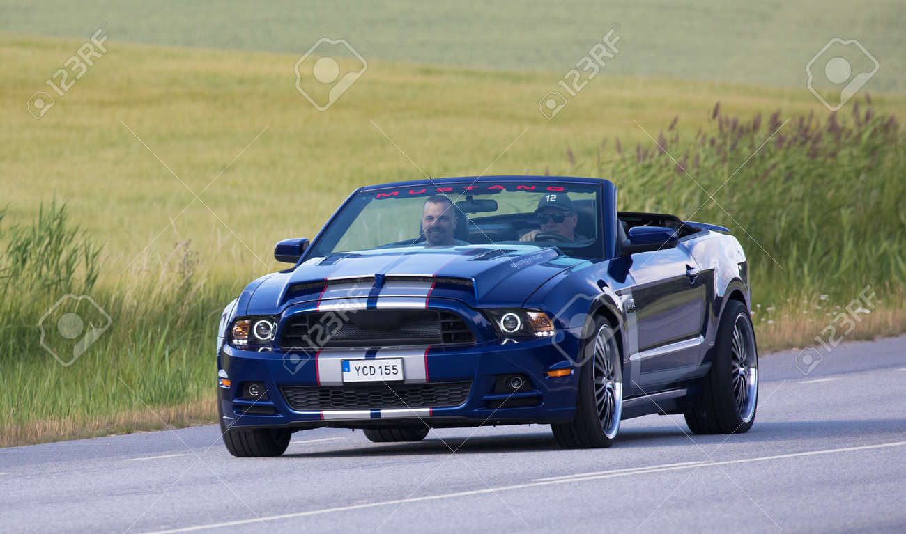 Tullgarn Sweden July 13 2017 Ford Mustang Gt Year 2013 Stock