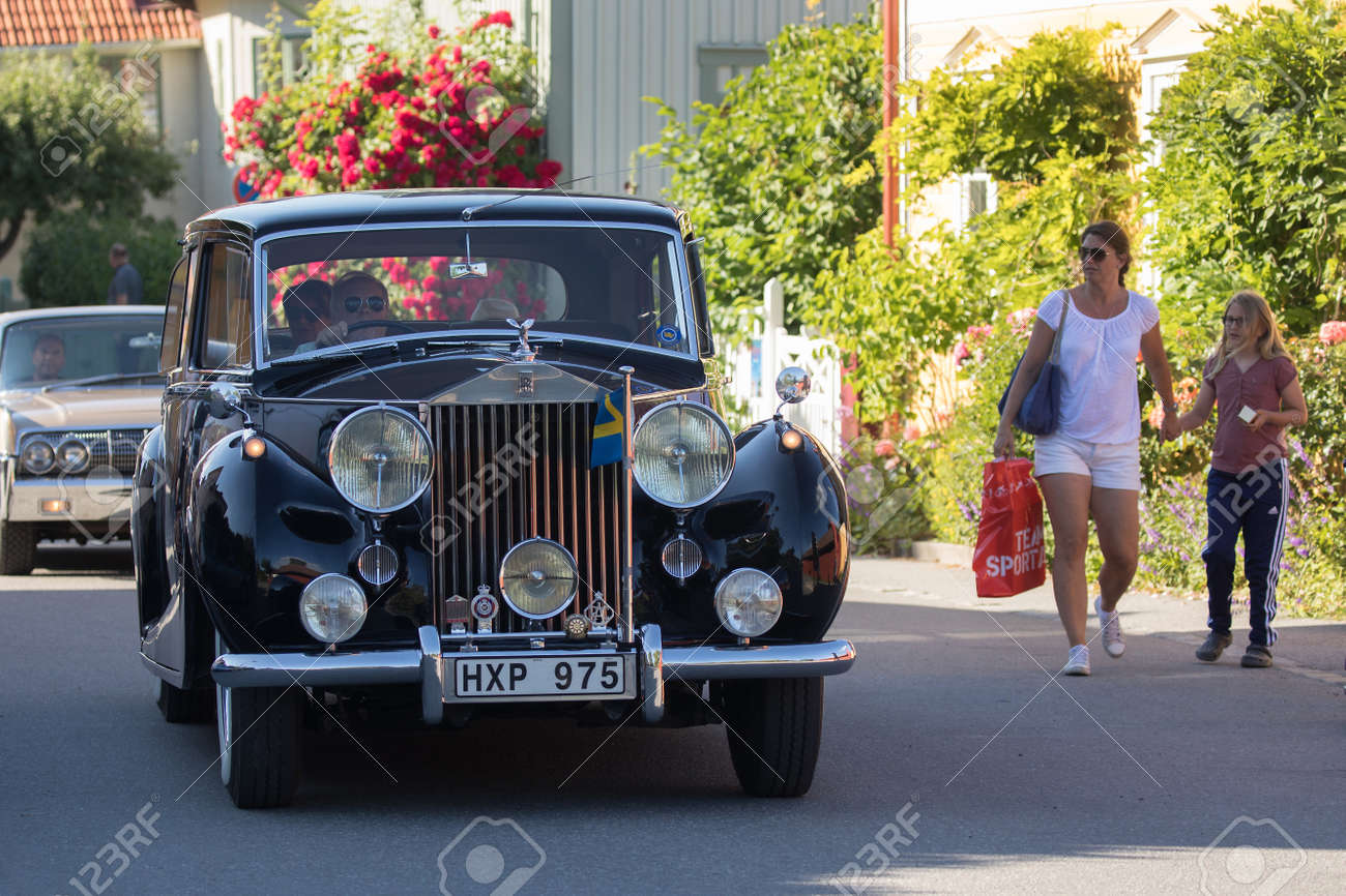 trosa sweden july 20, 2017. rolls royce silver wraith, year 1955