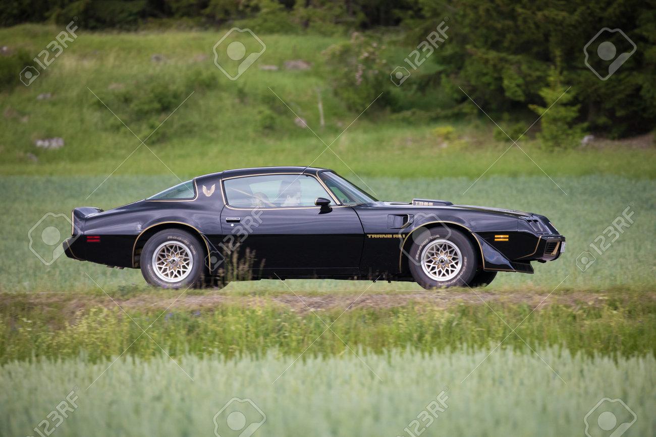 Trosa Sweden June 22 2017 Pontiac Firebird Transam Year 1979