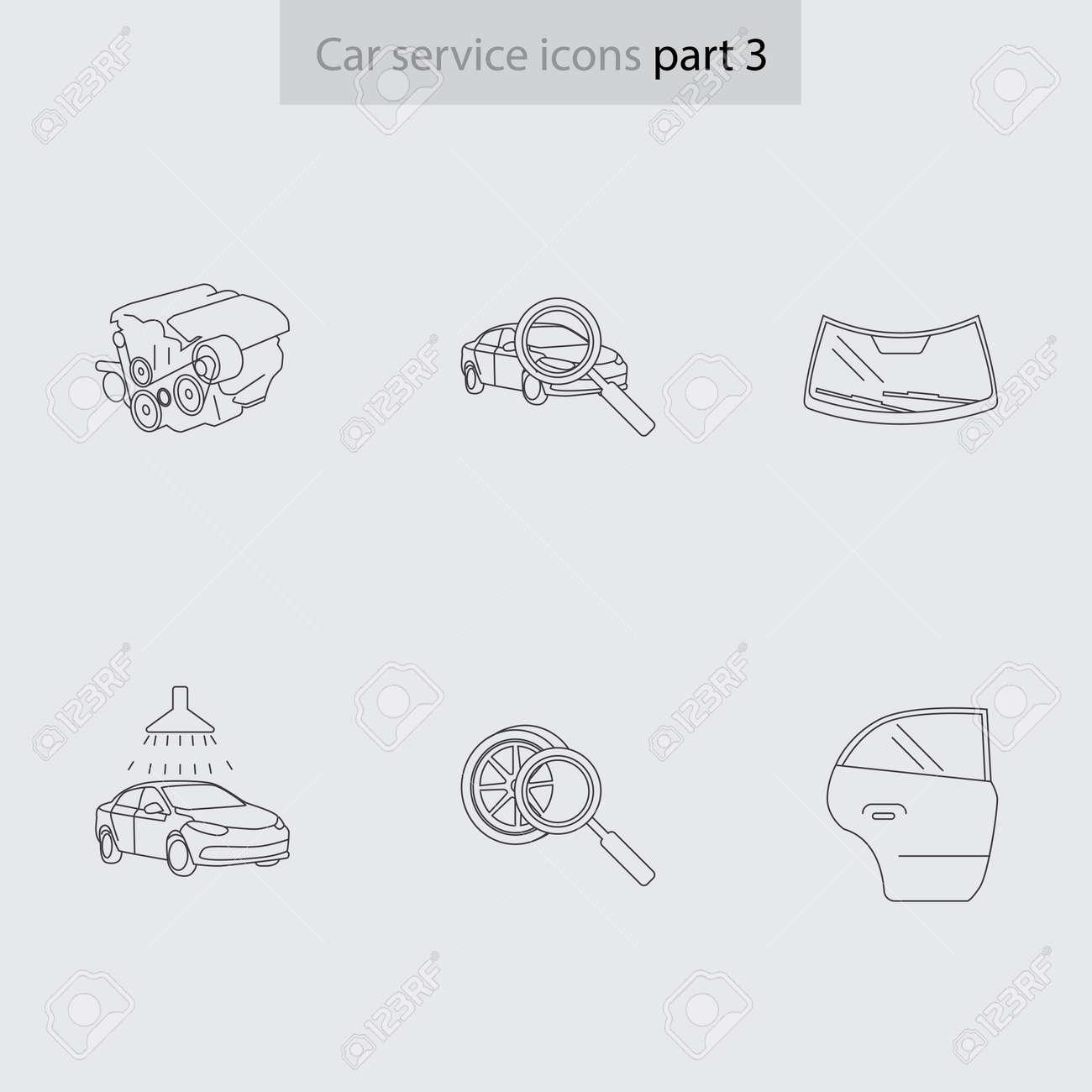 Moderne Lineare Grafiken Für Auto Der Technischen Wartung. Gut Für ...