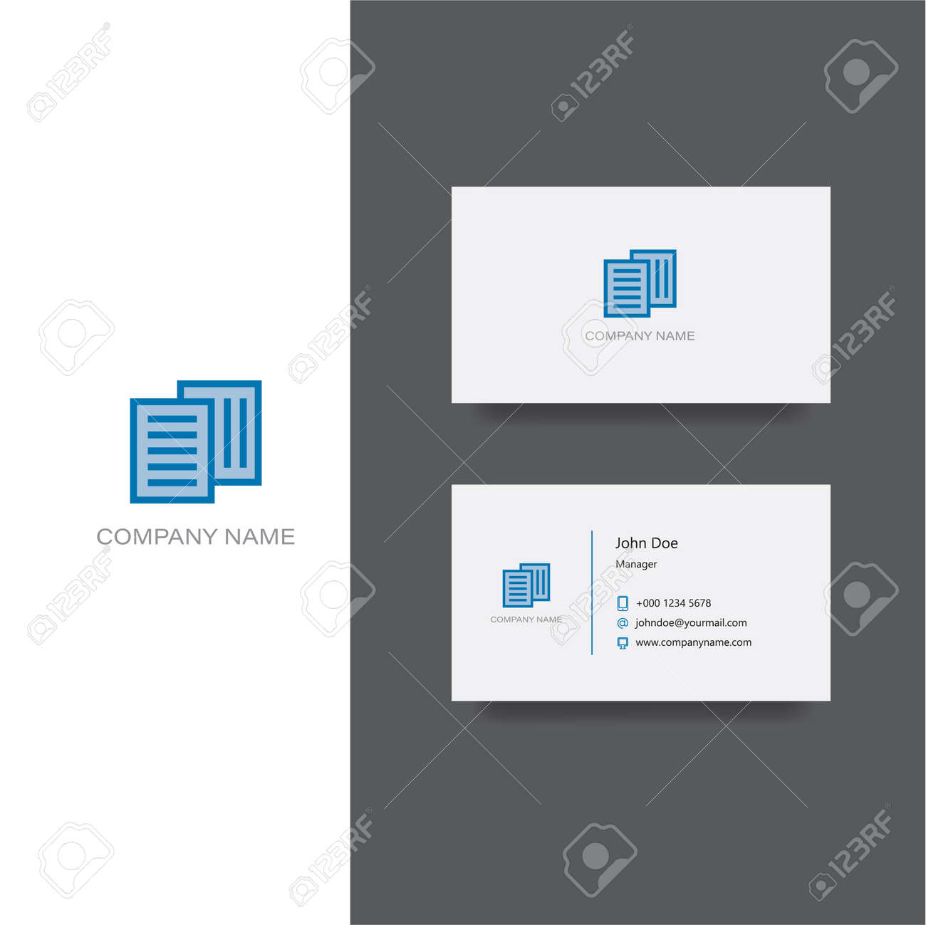 Finance Documents Company Logo And Business Card Template Royalty