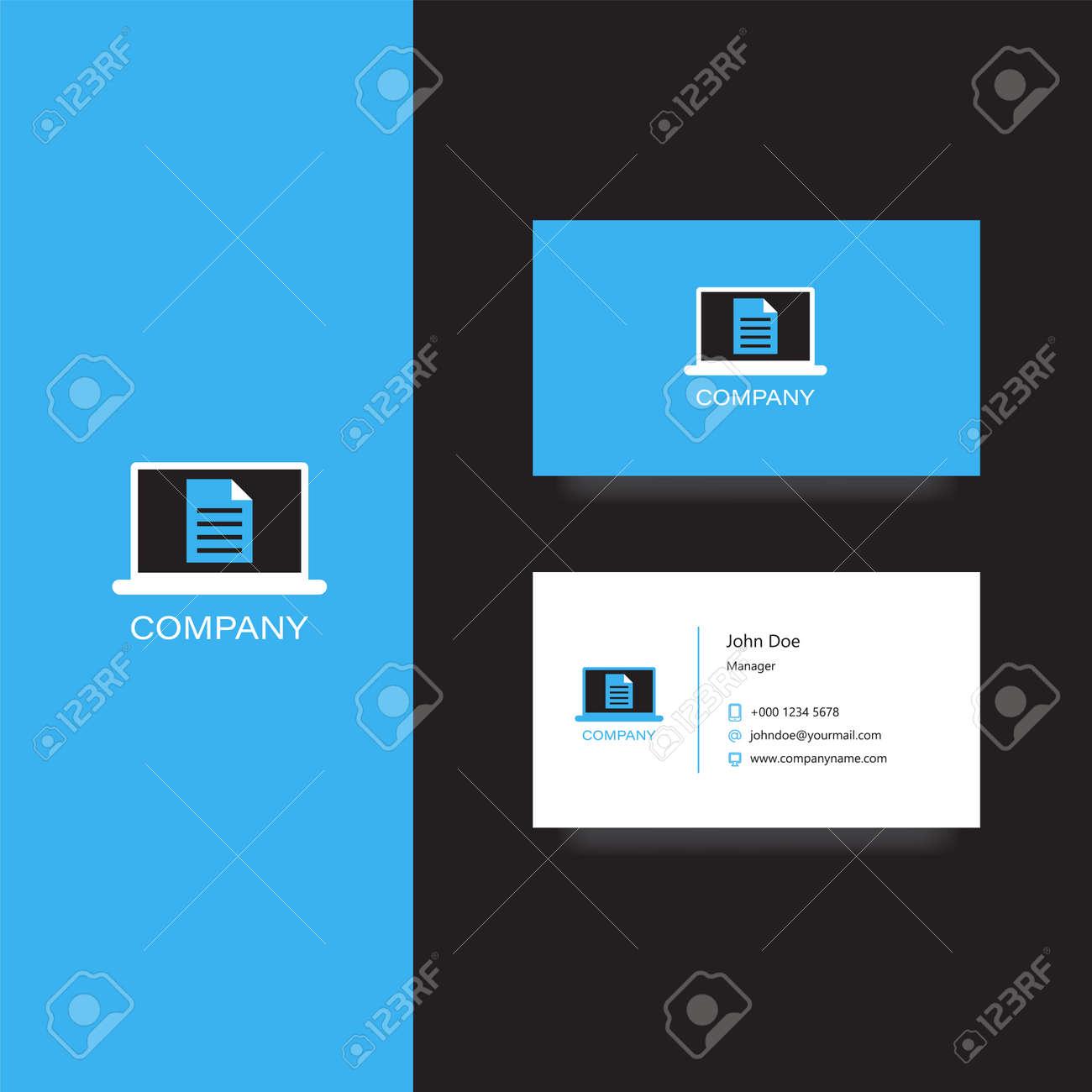 Socit De Documents Financiers Logo Et Modle Carte Visite