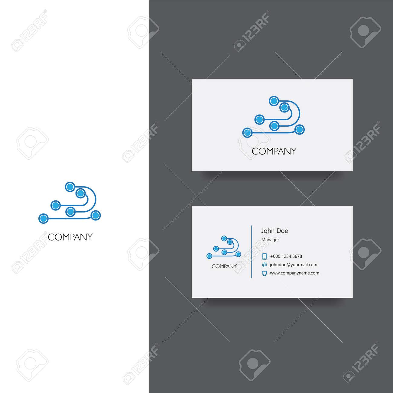Le Logo Et Modle De Carte Visite Llectronique Ou Des