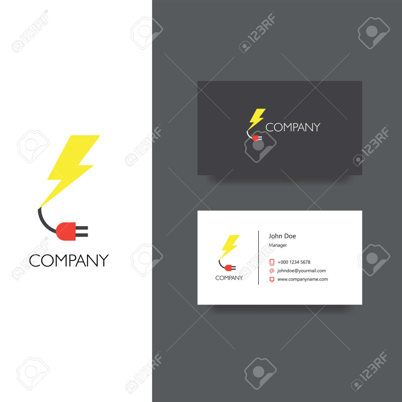 Le Logo Et Modele De Carte Visite Lelectronique Ou Des