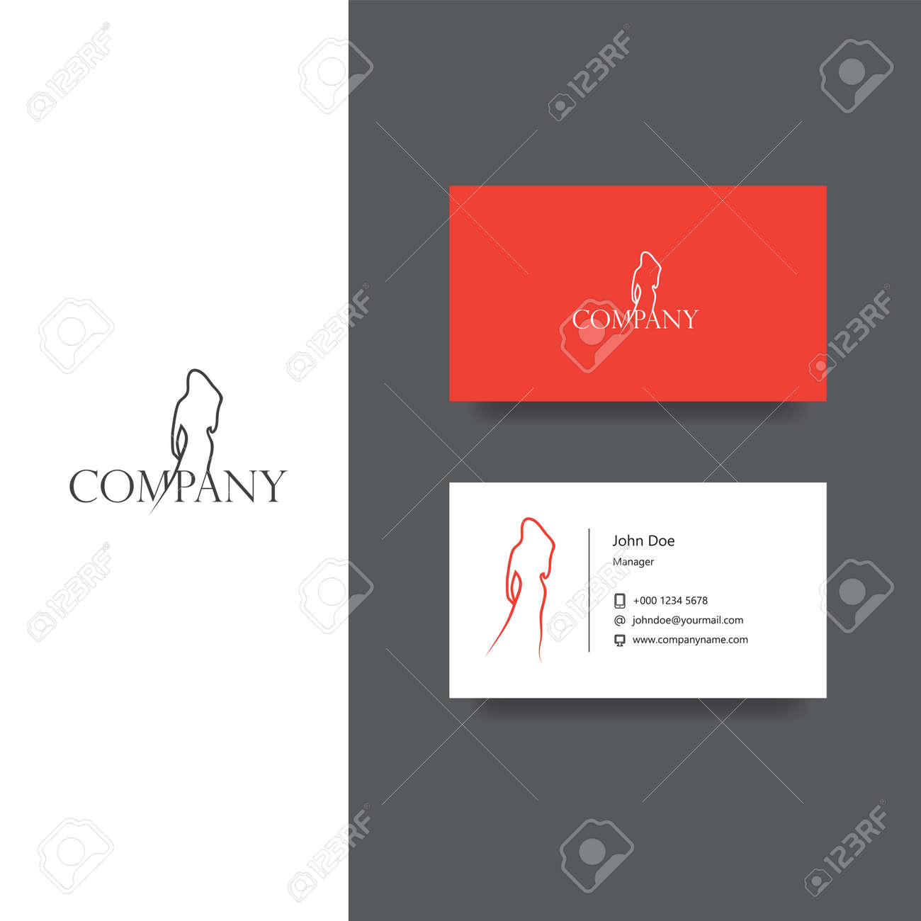 Logo De La Socit Oriente Vers Mode Et Modle Carte