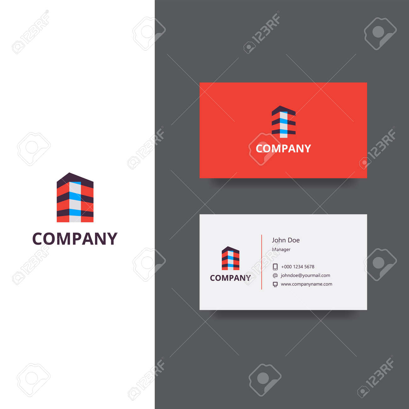 Vector eps logo design for architect or building company business vector vector eps logo design for architect or building company business card template icon design flashek Image collections