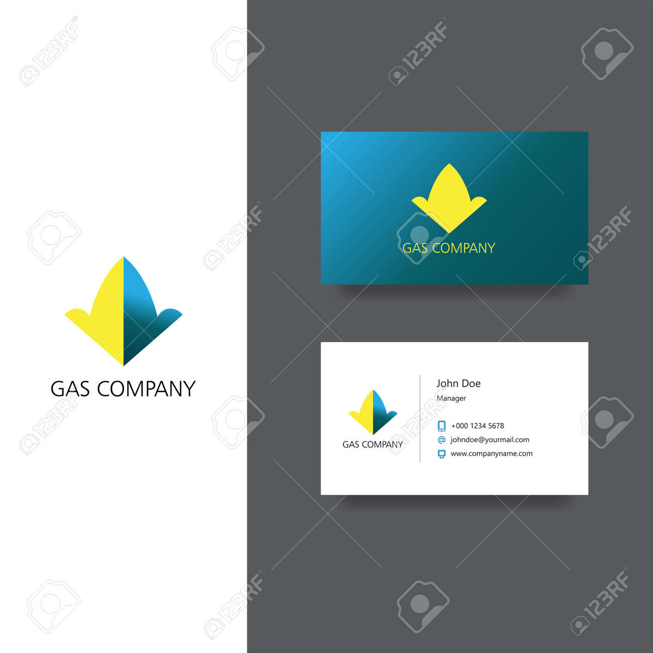 Garbage Removal Company Land Business Card Template Royalty Free ...