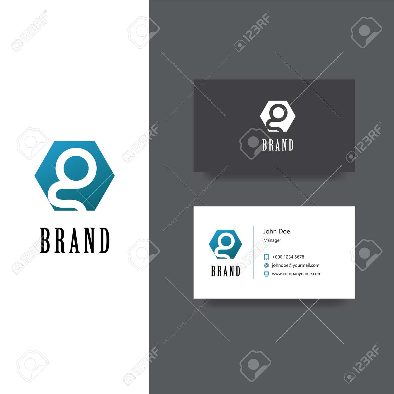 Logo Vectoriel Eps Avec La Societe De Lettre G Modele Carte