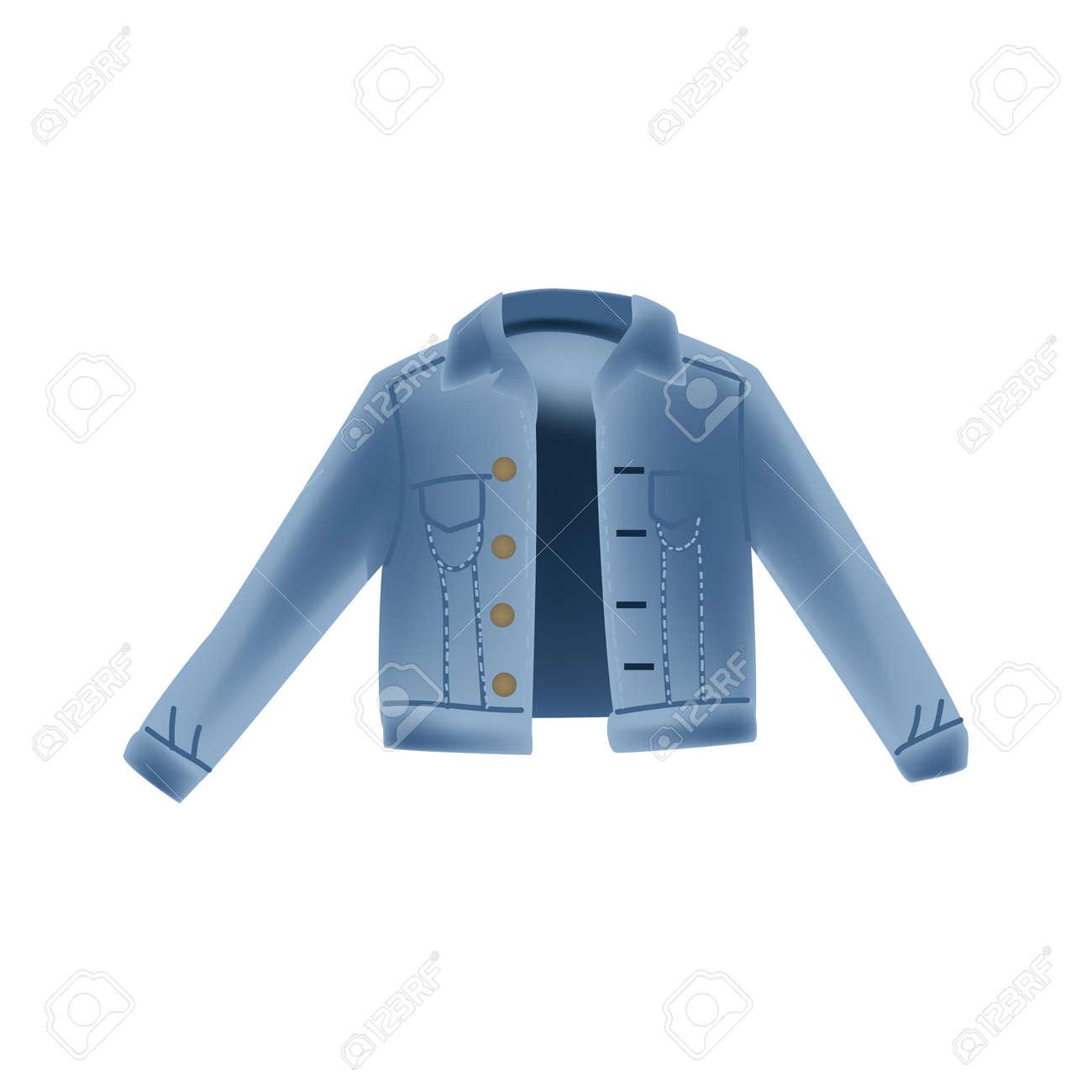 51e6dbd07 Ilustración de realismo con chaqueta vaquera de jeans