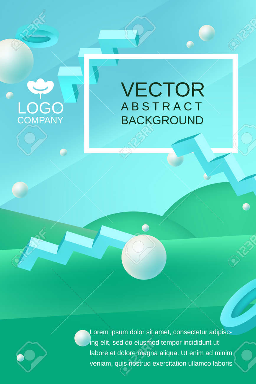 vector abstract background template for banner or poster design in