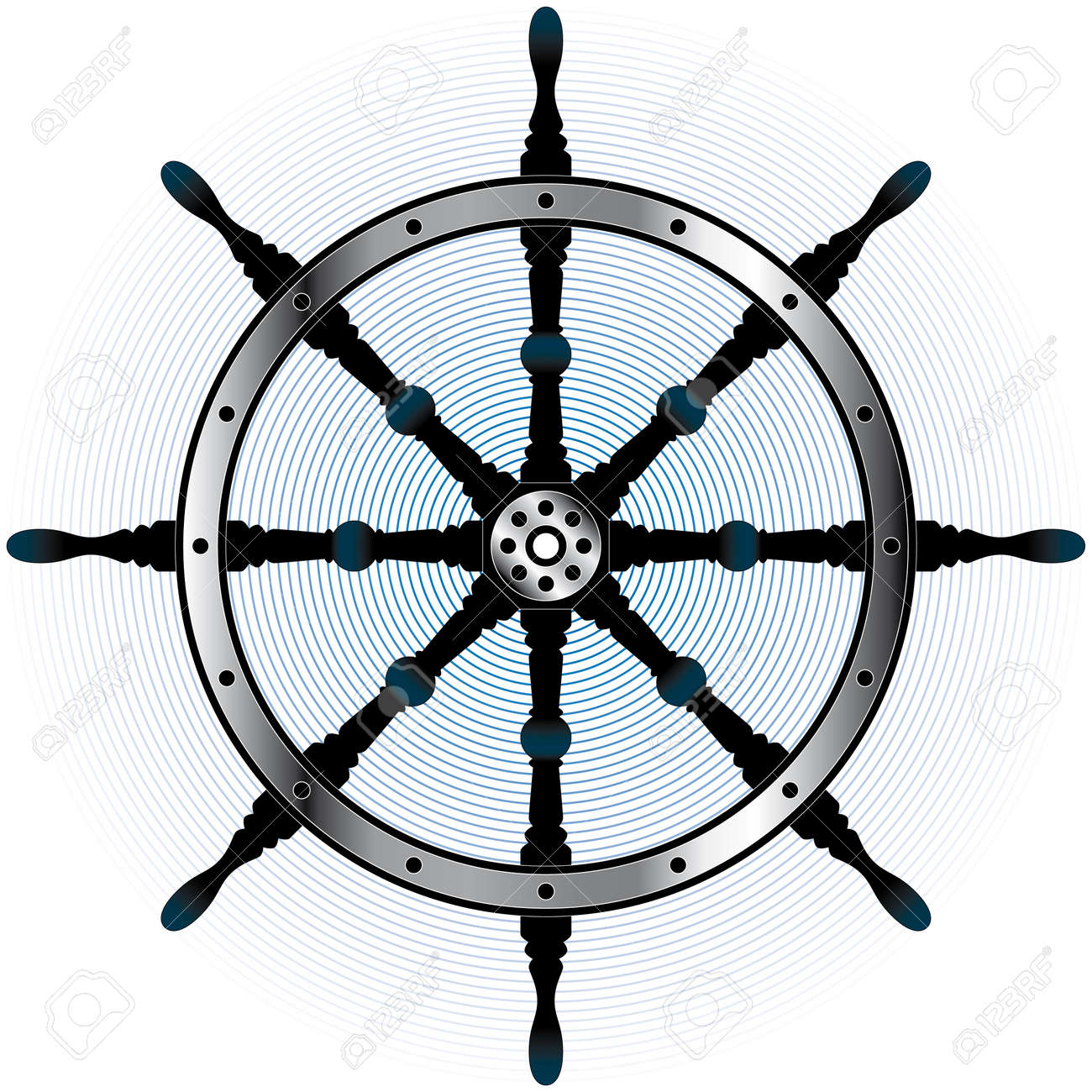 chrome steering wheel Stock Vector - 5377342