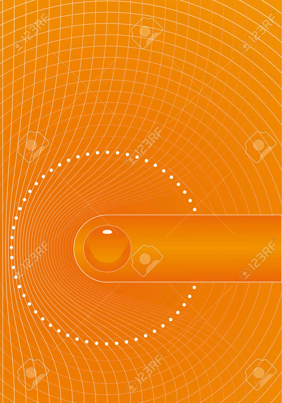 Orange Title Page Design Royalty Free Cliparts, Vectors, And Stock ... Vector - orange title page design