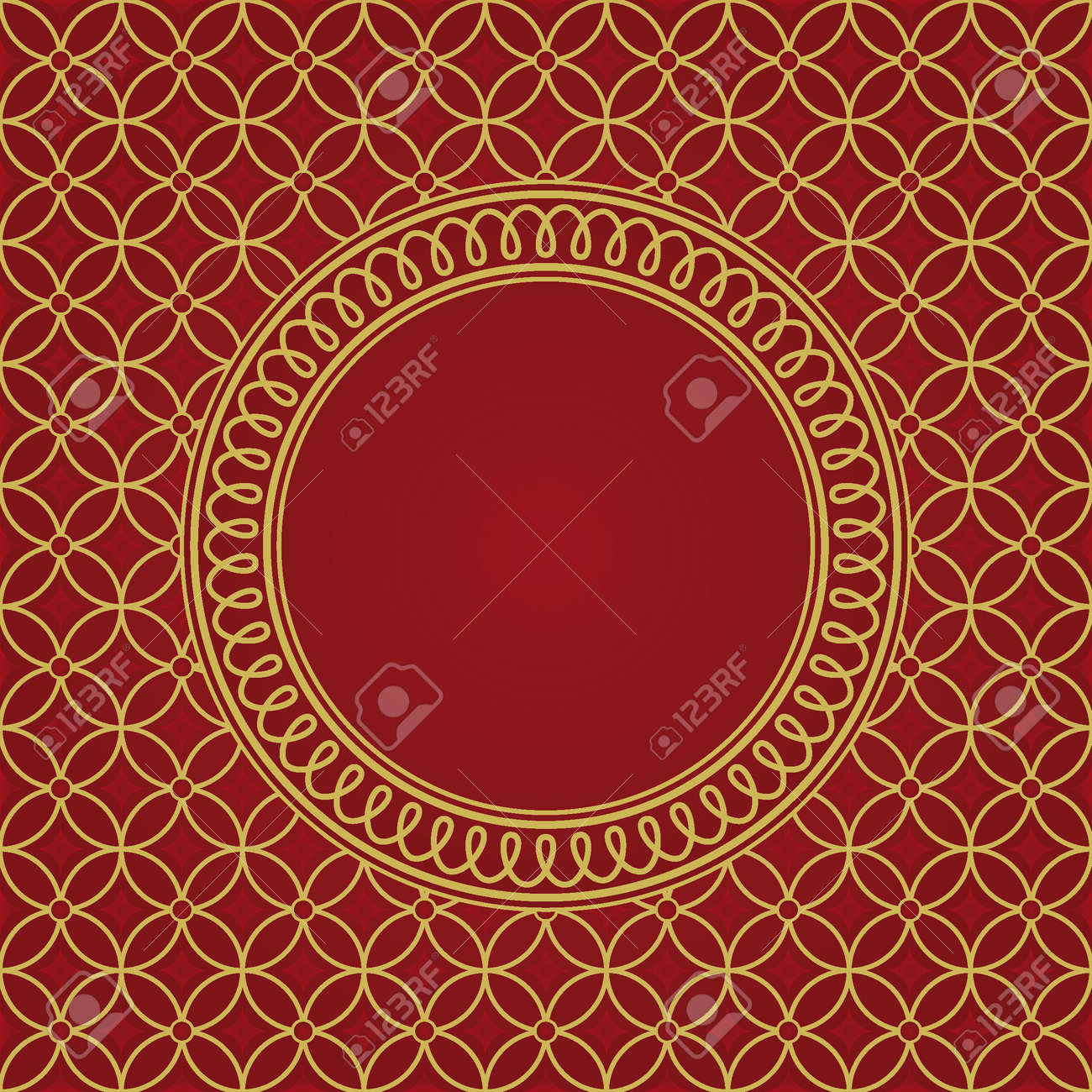 seamless pattern and round frame Stock Vector - 5383975