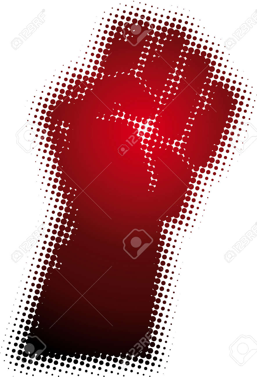 fist (from dots design series) Stock Vector - 5387393