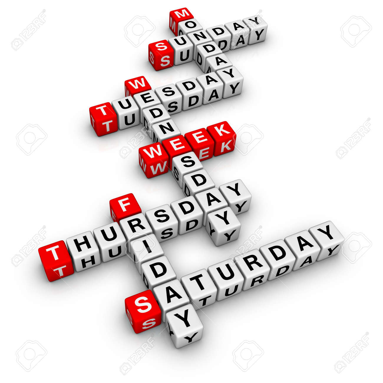 weekdays (frome crossword series) Stock Photo - 6585260