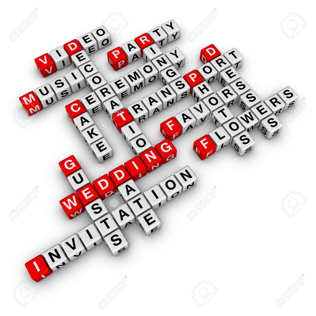 wedding checklist (cubes crossword series) - 6715468