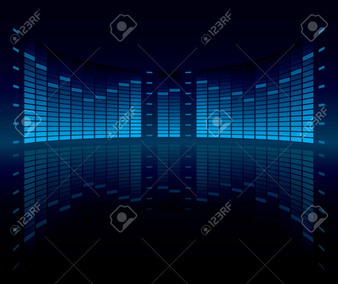Graphic Equalizer Display (editable vector)