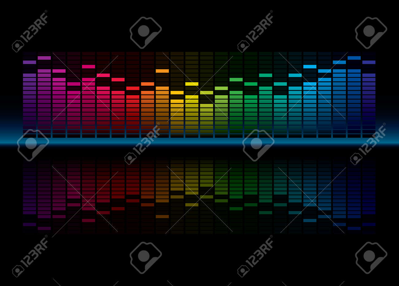 Coloful Graphic Equalizer Display Stock Vector - 7124519