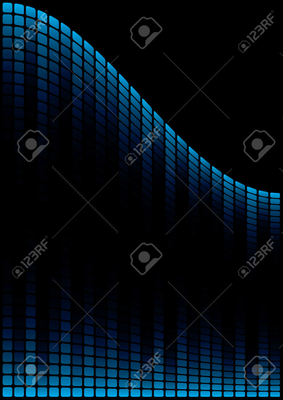 Blue Graphic Equalizer Display (editable vector) Stock Vector - 7213242