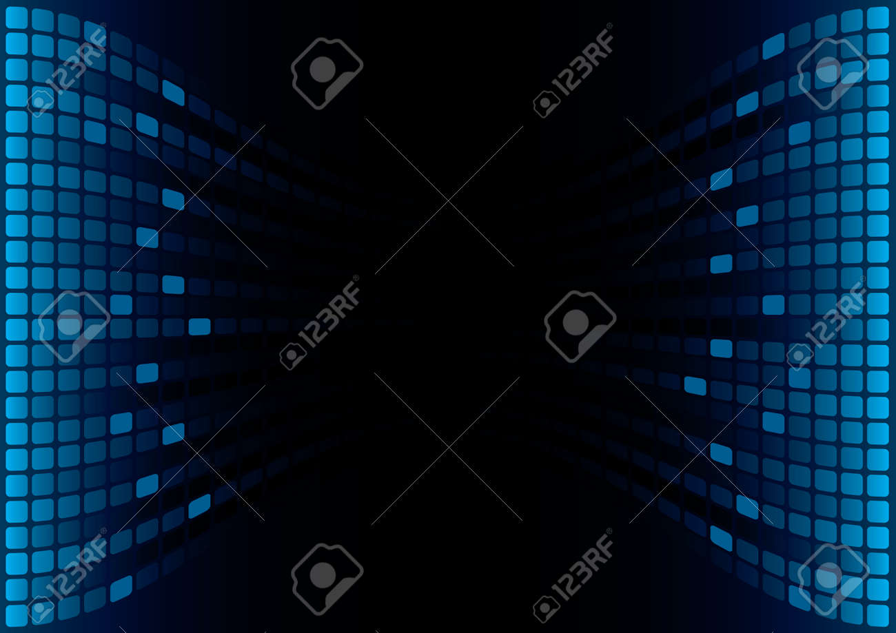 Blue Graphic Equalizer Display (editable vector) Stock Vector - 7213243