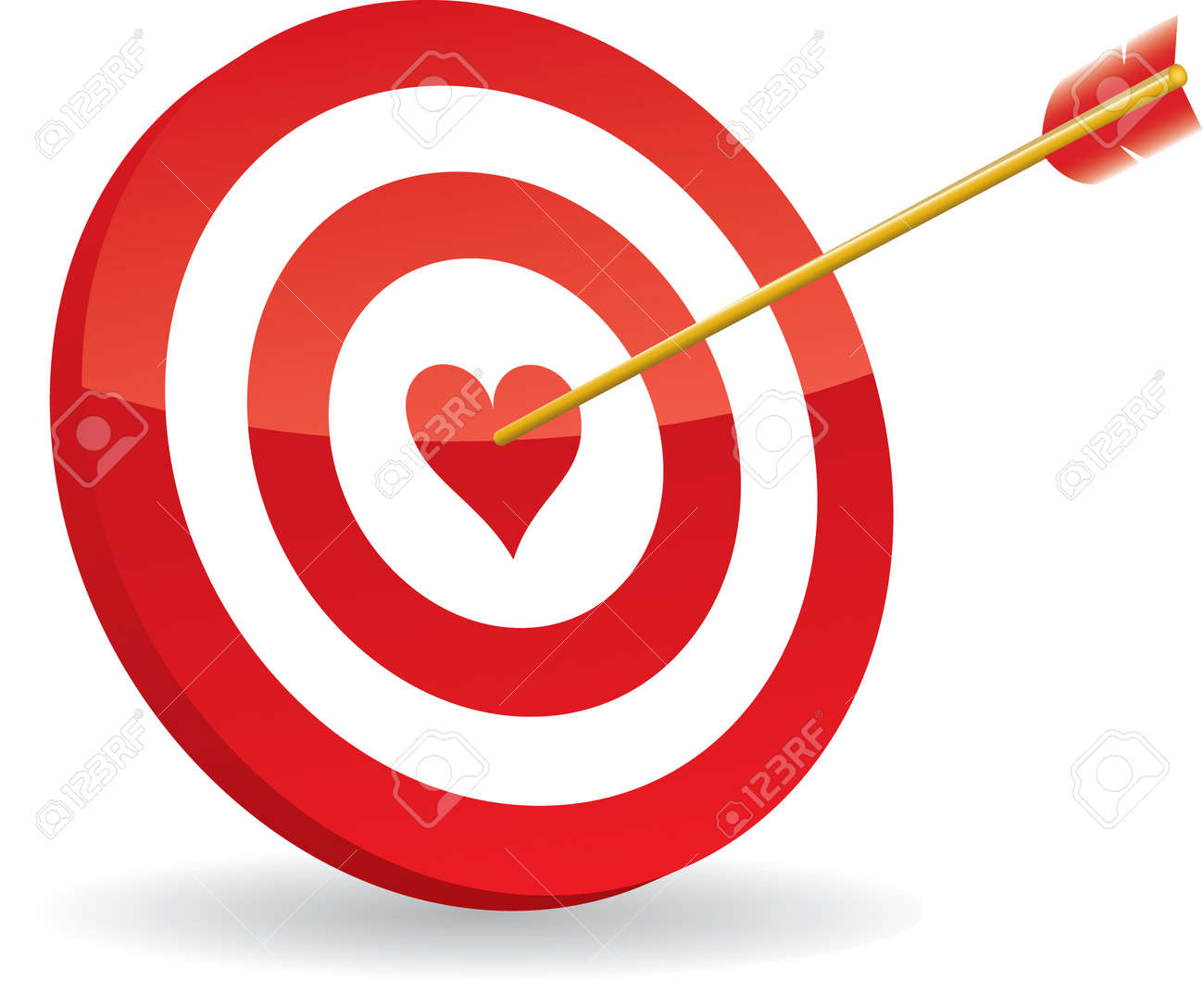 target love and arrow Stock Vector - 8720470