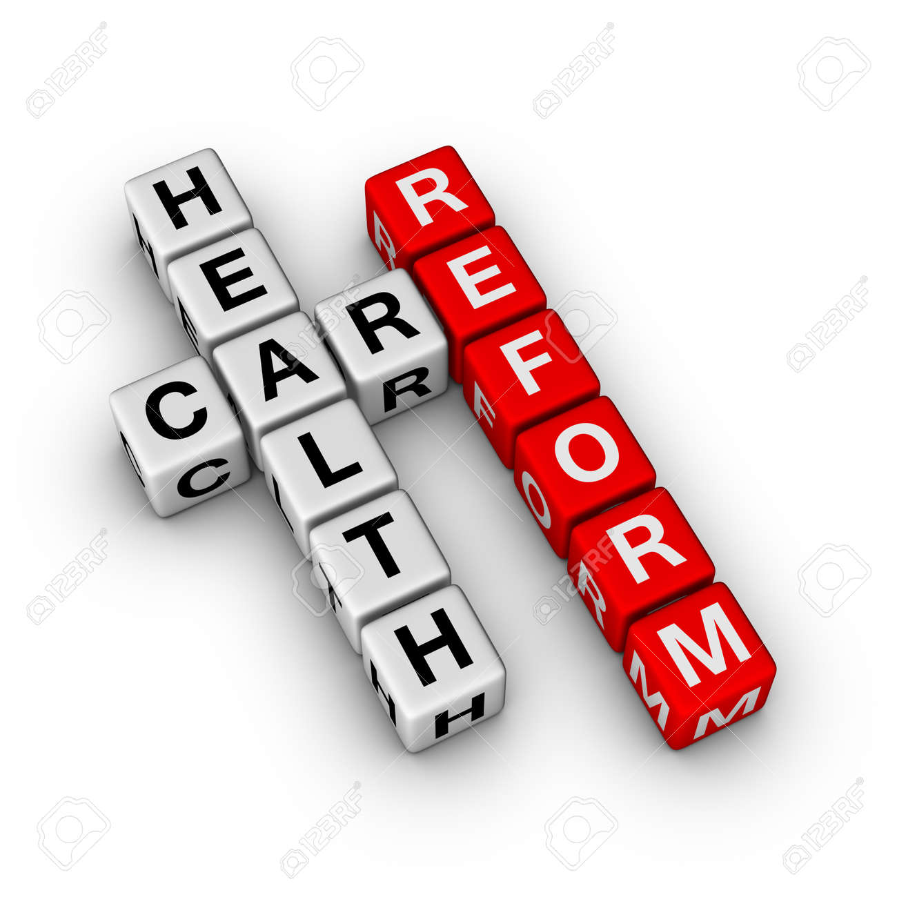 Healthcare Reform cubes crossword series Stock Photo - 8720528