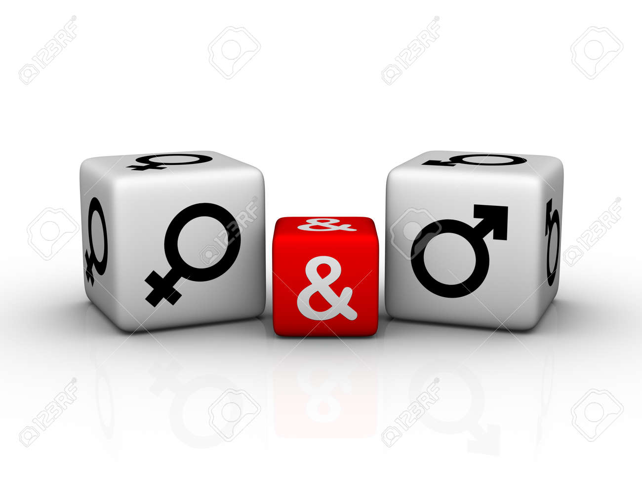 female and male symbol dice Stock Photo - 8773176