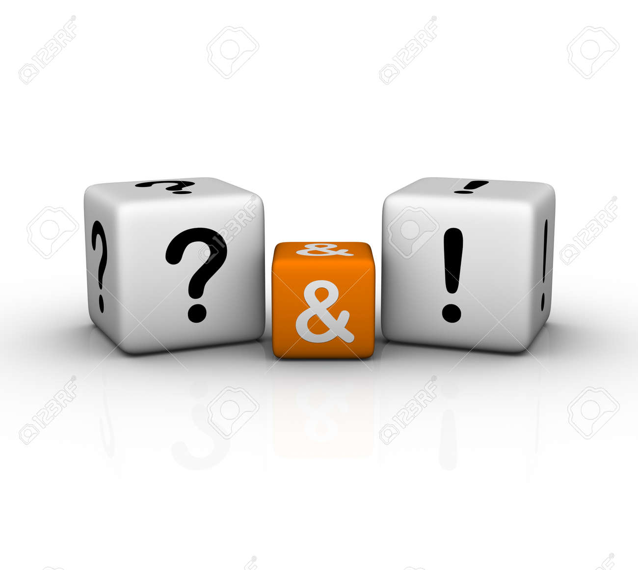 Question and Answers  (3D crossword orange series) Stock Photo - 8773208