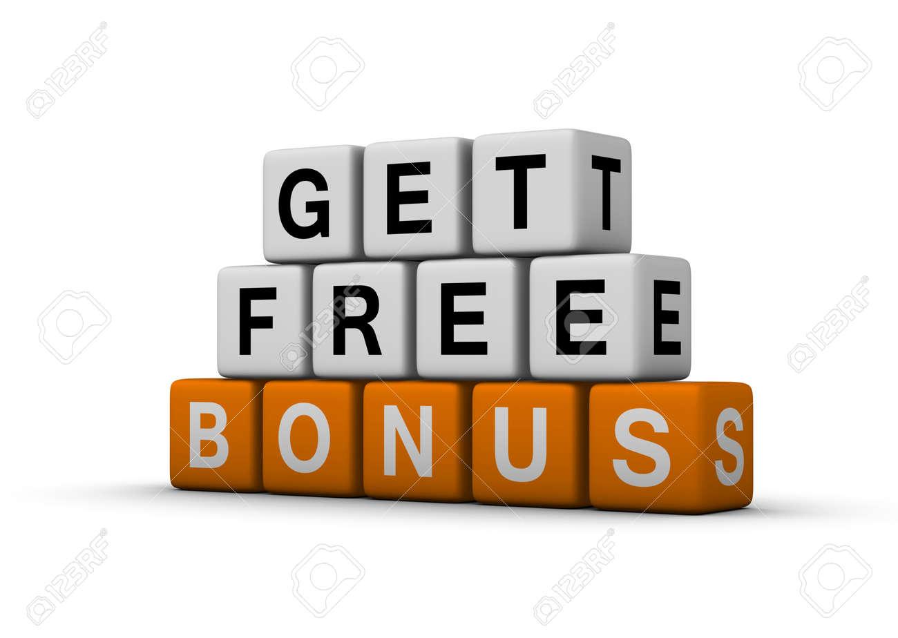 get free bonus symbol for sales promotion Stock Photo - 8773200