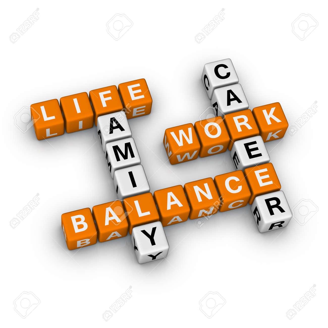 Work and Life Balance (3D crossword orange series) - 8773221