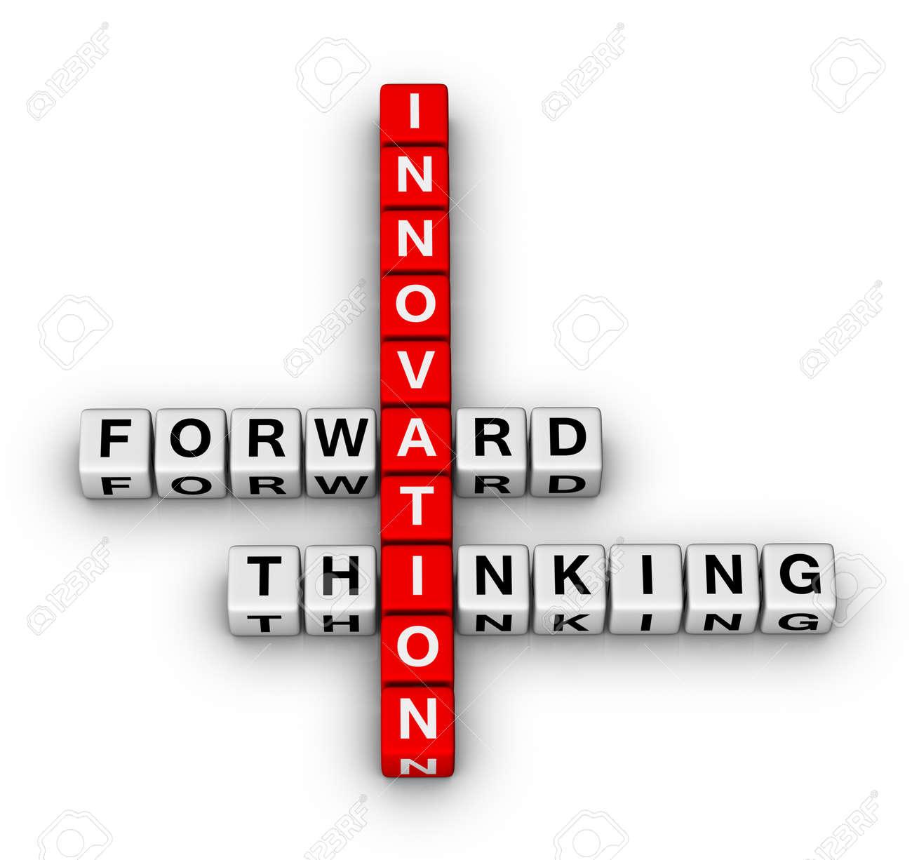 forward thinking innovation crossword puzzle Stock Photo - 9673138