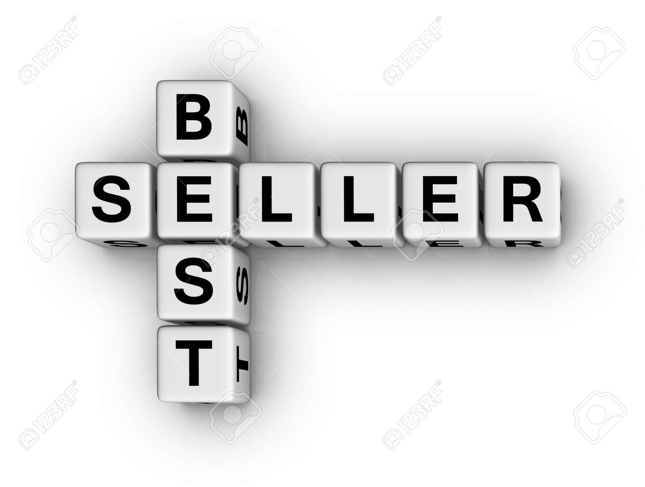 best seller crossword tag Stock Photo - 9673133