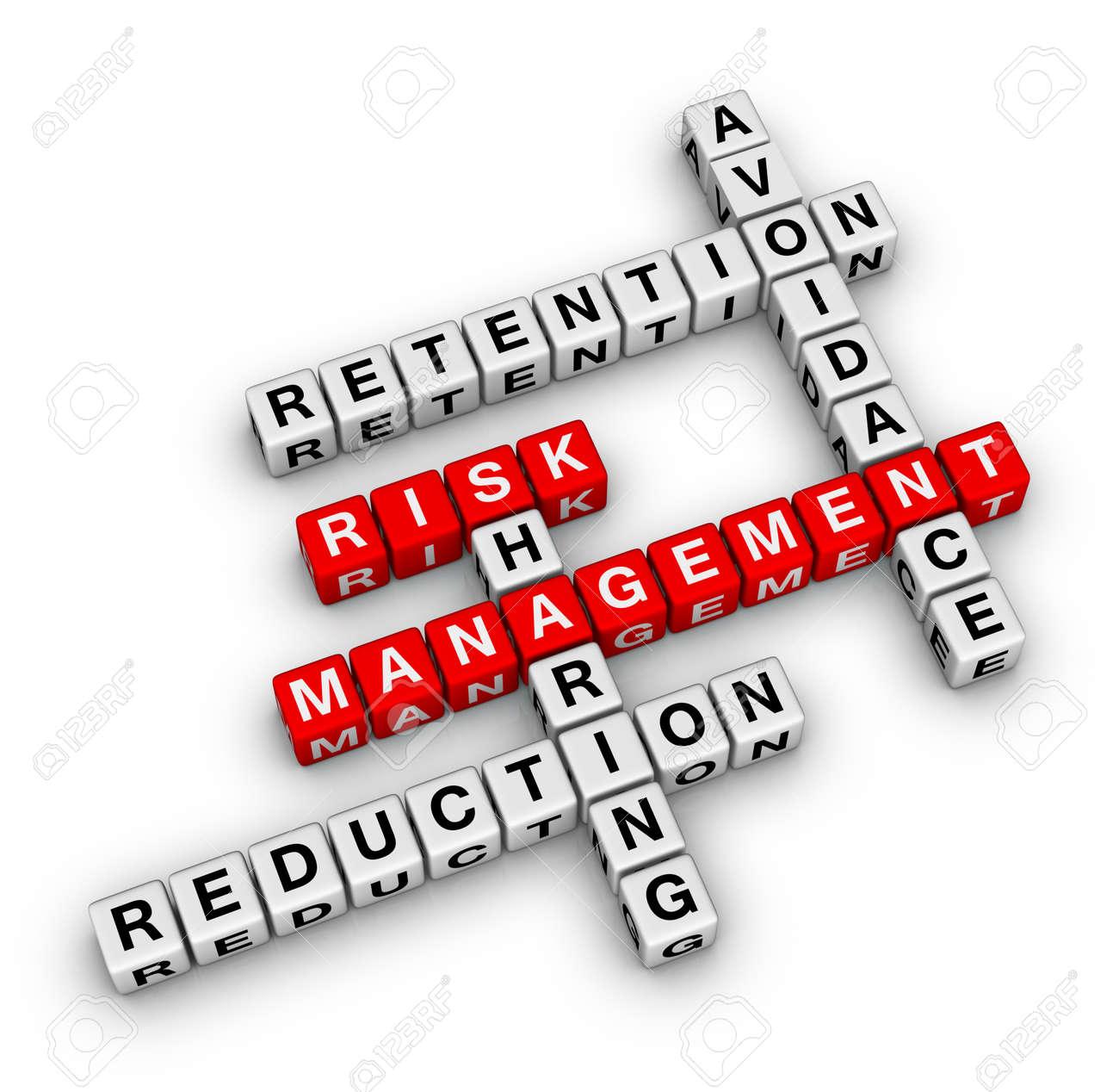 Risikomanagement 3d Kreuzworträtsel Neues Business Konzept