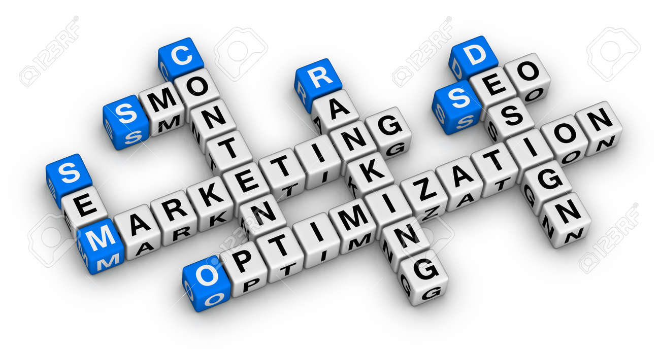 website marketing 3d crossword puzzle stock photo, picture and, Powerpoint templates