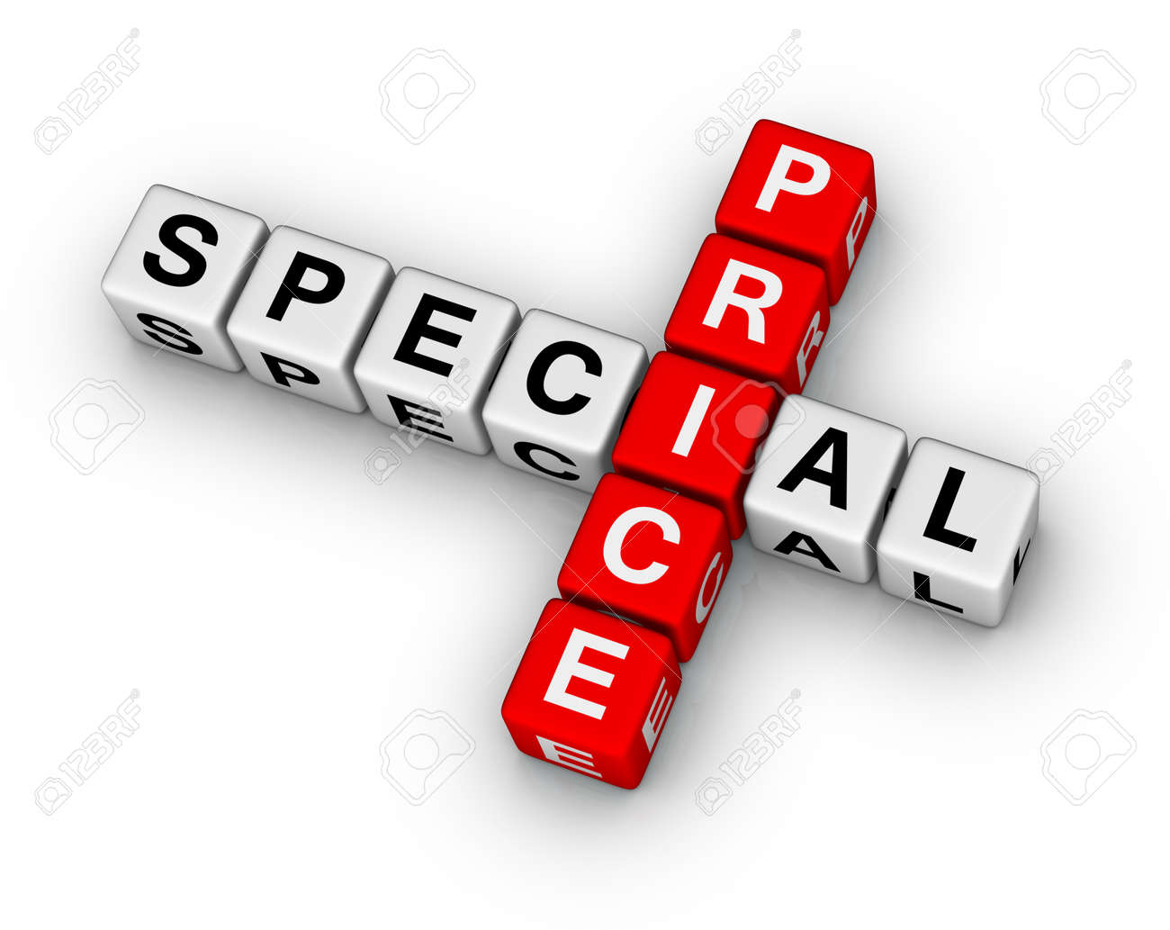 special price 3d crossword puzzle Stock Photo - 10631832