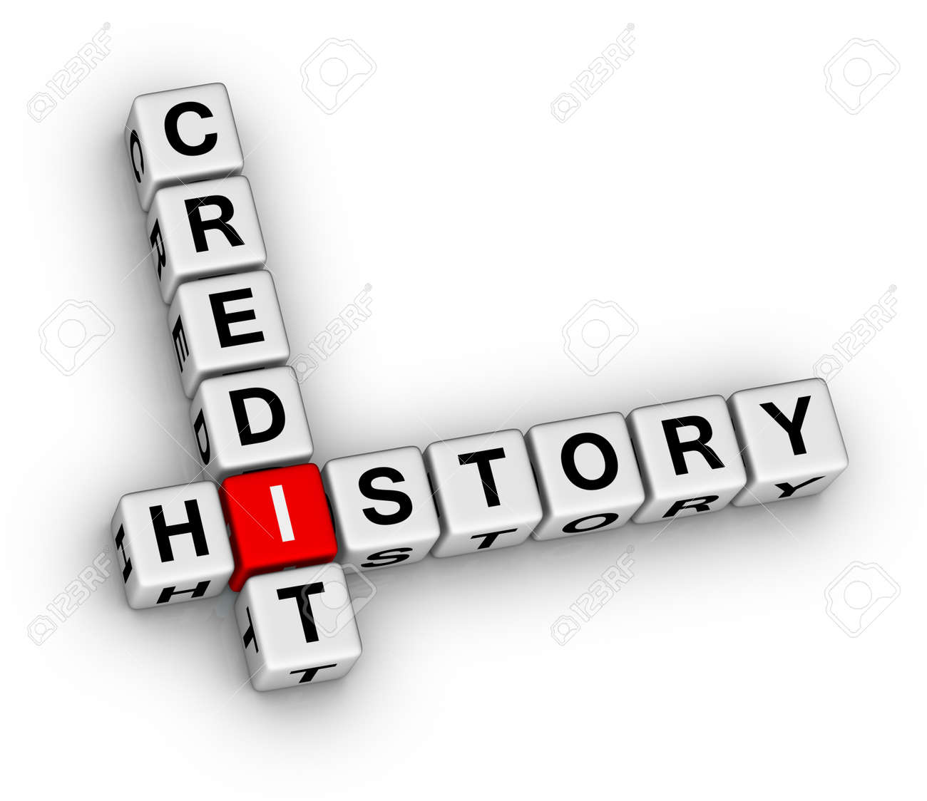 credit history 3d crossword puzzle Stock Photo - 12374232