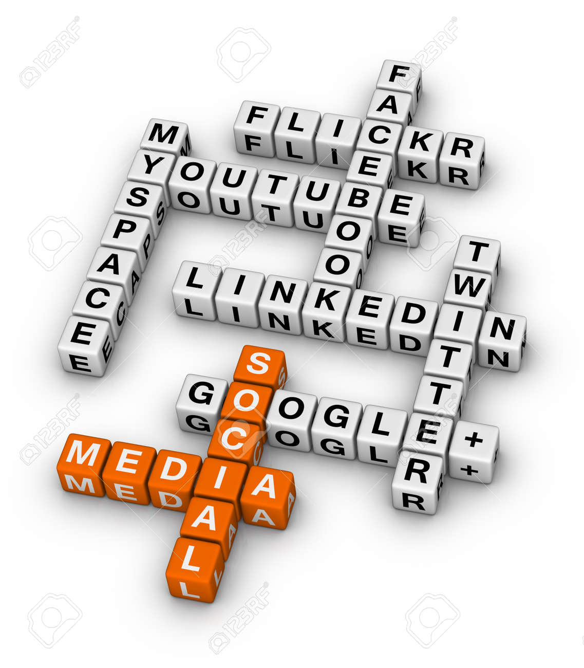 Most Popular Social Networking Sites crossword - 12374341