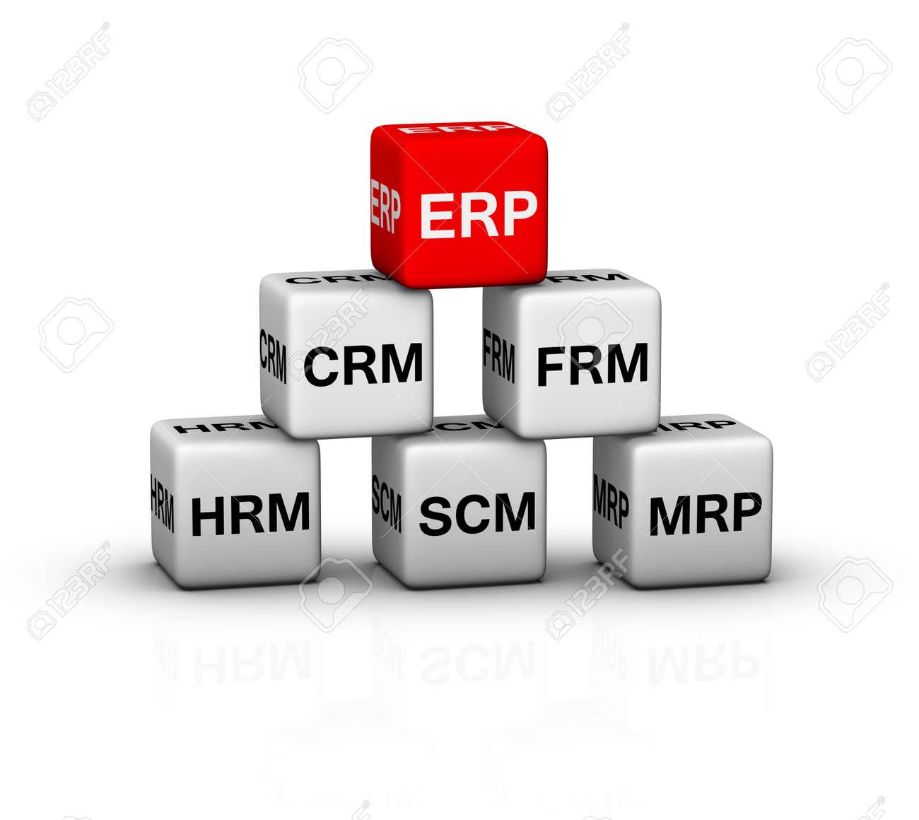 ERP (Enterprise Resource Planning) System illustration Stock Illustration - 16924463