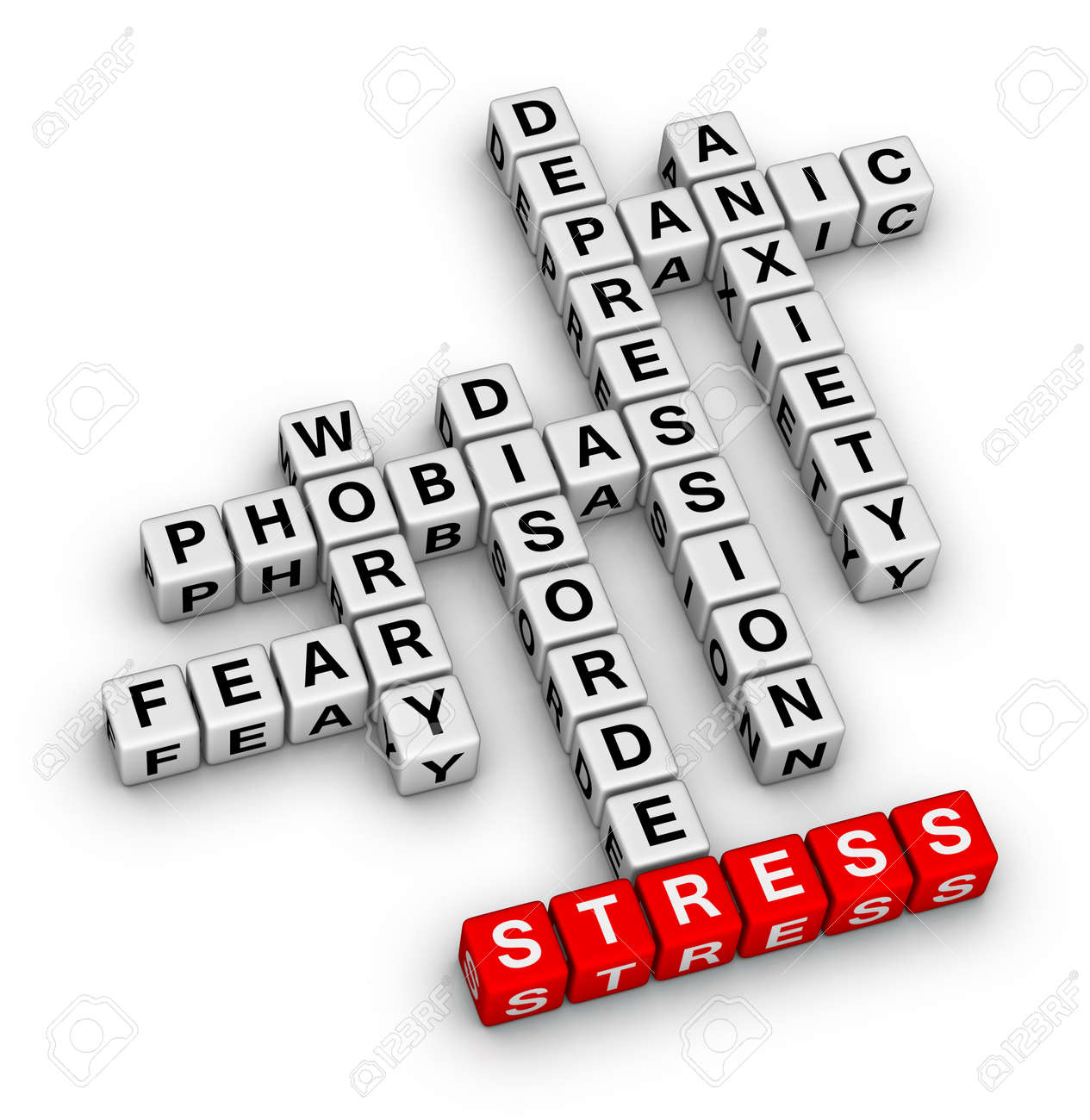 Mental Health Crossword Puzzle Stock Photo Picture And Royalty Free