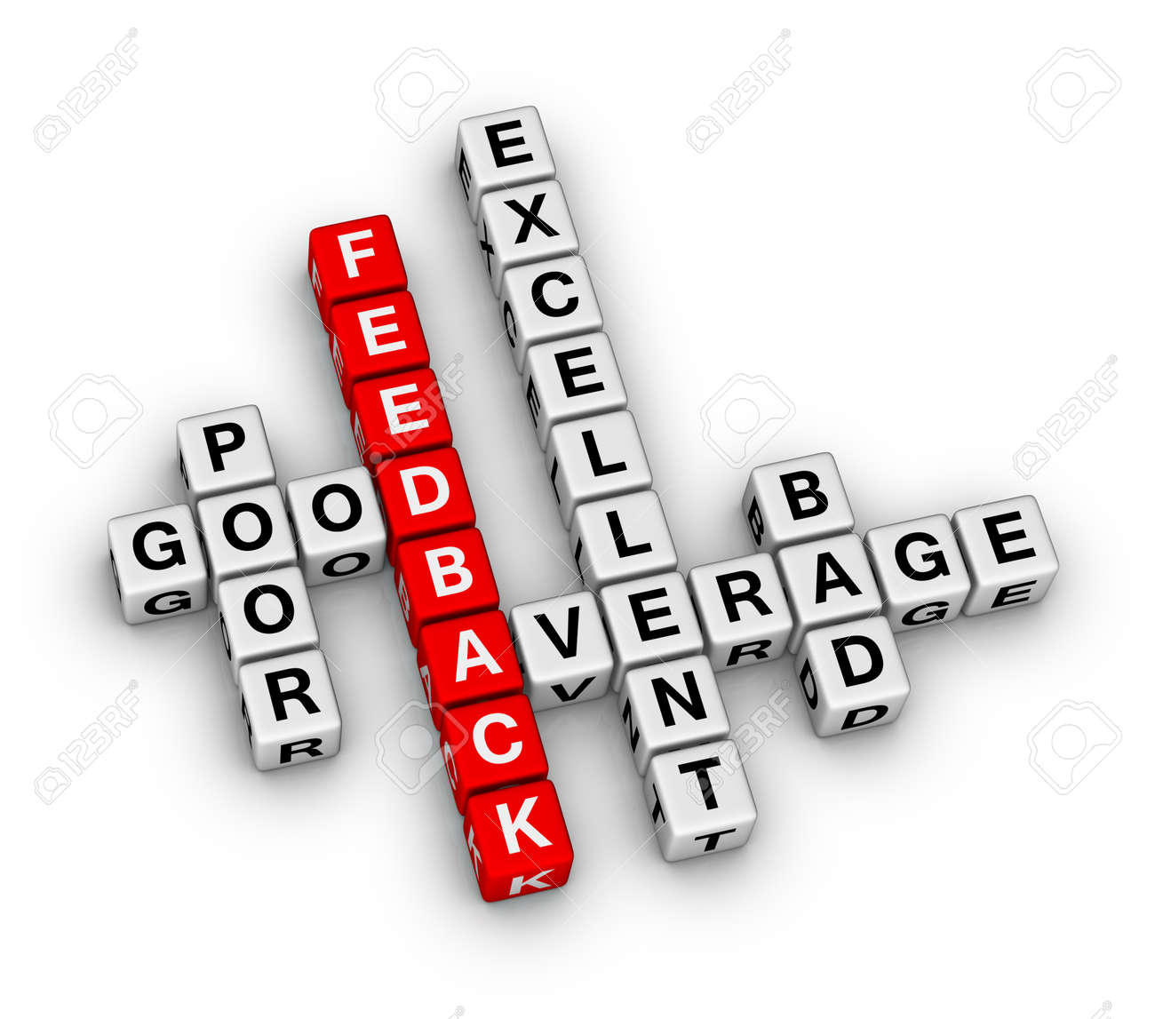 feedback form cubes crossword puzzle Stock Photo - 27646044
