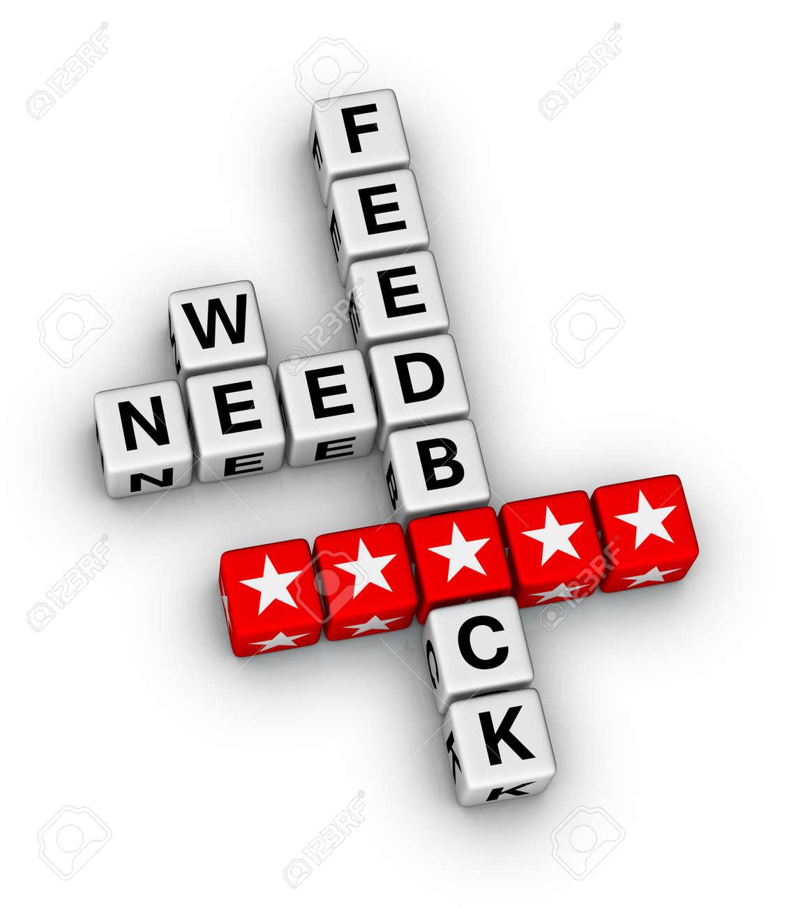 we want feedback crossword puzzle Stock Photo - 27708588