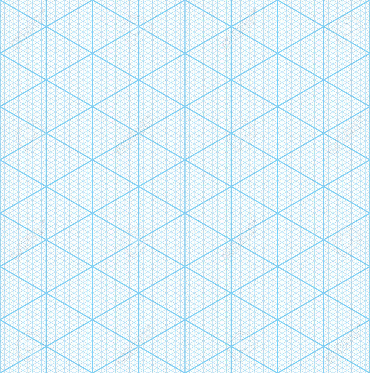 Isometric Graph Paper For 3D Design. Seamless Vector Pattern ...