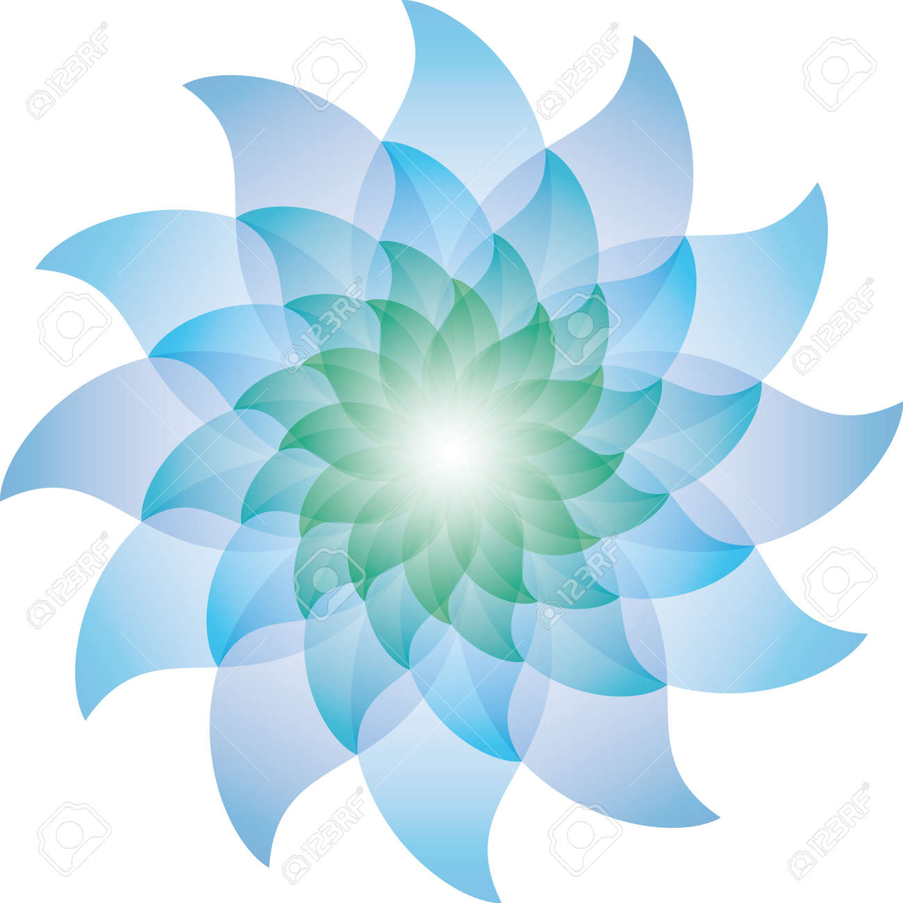 Beautiful Blue Lotus Flower Icon Stock Photo Picture And Royalty